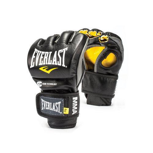 Перчатки боевые Everlast MMA Competition без пальца EverlastПерчатки MMA<br>Everlast Professional MMA Fight Gloves - удобные и прочные перчатки для занятий Смешанными Боевыми Искусствами, сшитые специально для профессионалов. Благодаря своему обновленному эргономичному дизайну, эти боевые перчатки прекрасно подходят как для отработки захватов во время тренировок, так и для выступлений на соревнованиях. Professional MMA Fight Gloves изготовлены из высококачественной натуральной кожи, что обеспечивает значительный запас прочности и высокую износоустойчивость. Широкая застежка на липучке позволяет подогнать перчатки под вашу руку, в тоже время плотно фиксируя запястье, что значительно снижает риск получить травму во время боя. Если вам необходимы новые перчатки для выступления на соревнованиях, смело выбирайте Everlast Professional MMA Fight Gloves!<br><br>Размер: L