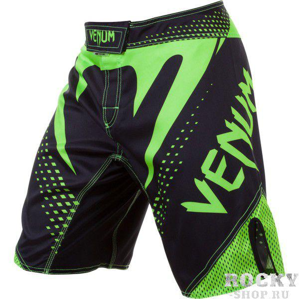 Купить Шорты ММА Venum Hurricane Fight shorts - Black/Neo Yellow (арт. 4718)