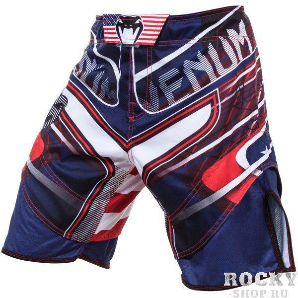 Купить Шорты ММА Venum USA Hero Fight Shorts - Blue/Red/Ice (арт. 4723)