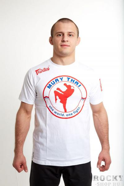 Футболка Muay Thai, белая FairtexФутболки<br>100 % хлопок<br><br>Размер INT: L