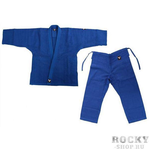 Кимоно для дзюдо синее VIKING JUDO BLUE V4233, 46-48/170 см VikingЭкипировка для Дзюдо<br>Кимоно дзюдоги классическое для тренировок и соревнований.100% хлопок, синее, плотность 450-470г/м2 для куртки, 240-270г/м2 для штанов, с синим поясом.Пояс штанов на широкой резинке и на шнуре.Усиление швов, по низу штанин, куртки и рукавов - многострочная прошивка.Специальная упаковка-сумочка.Размер 46-48Рост 170 см<br>