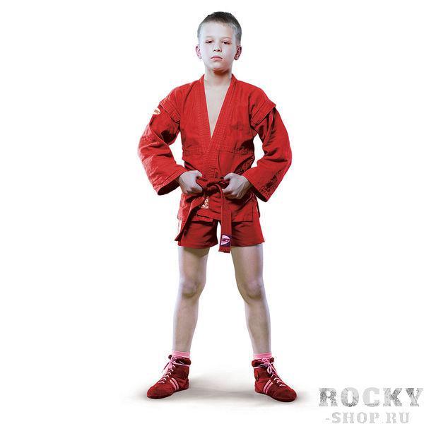 Детская куртка для САМБО Green Hill JUNIOR, 140 см Green HillЭкипировка для Самбо<br>Магазин Rocky shop представляет бюджетную модель куртки для самбо от известного производителя Green Hill. <br>Детская куртка для самбо,<br><br>Для тренировок,<br><br>Пояс в комплекте,<br><br>100% хлопок,<br><br>Красный или Синий цвет,<br><br>Цвет: Красный