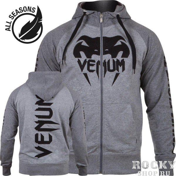 Купить Толстовка Venum Pro Team 2.0 Hoody - Lite Series All seasons Grey (арт. 4866)