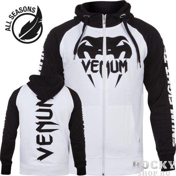 Купить Толстовка Venum Pro Team 2.0 Hoody - Lite Series All seasons White/Black (арт. 4867)