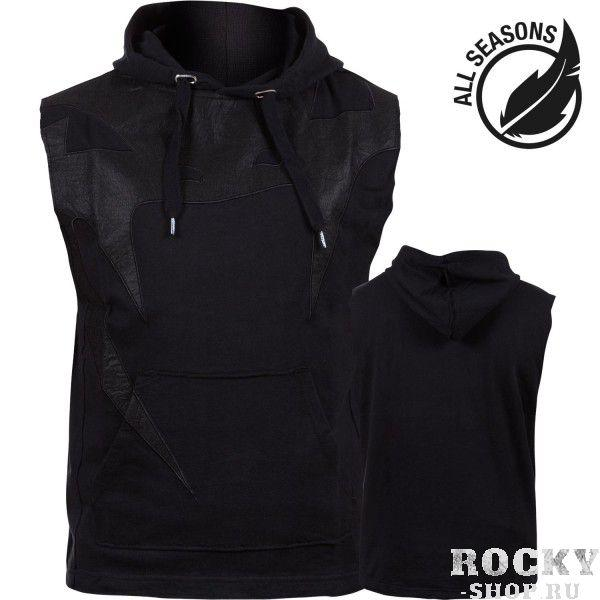 Толстовка без рукавов Venum Attack Sleeveless Hoody - Lite Series - All seasons Black Venum