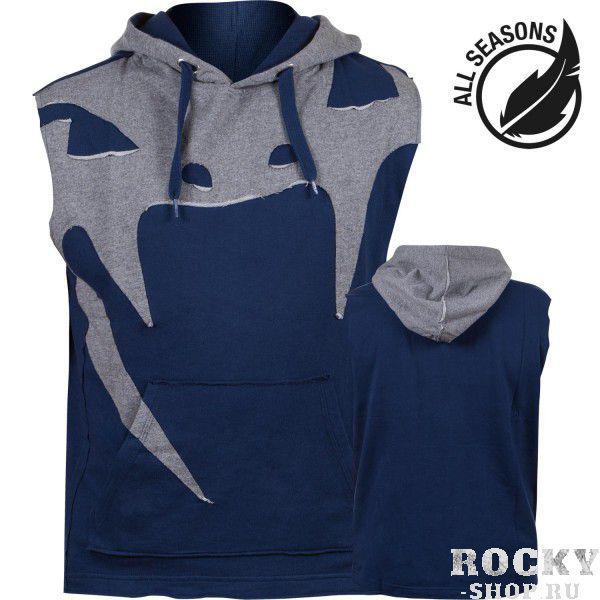 Толстовка без рукавов Venum Attack Sleeveless Hoody - Lite Series - All Seasons Navy Blue Venum