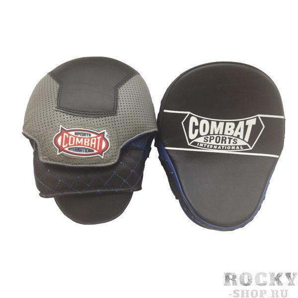 Боксерские лапы изогнутые, Чёрные CombatЛапы и макивары<br>Выполнены из первоклассной кожи. <br> Многослойная пена, обеспечивающая максимальное поглощение в себя всей энергии удара. <br> 2 штуки в упаковке<br>