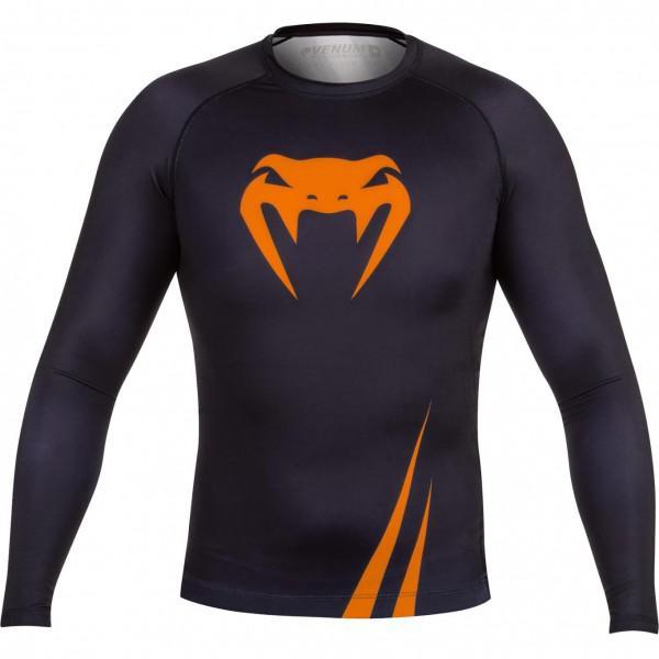 Купить Рашгард Venum Challenger Rashguard - Long Sleeves Black/Neo Orange PSn-venrash033 (арт. 4886)
