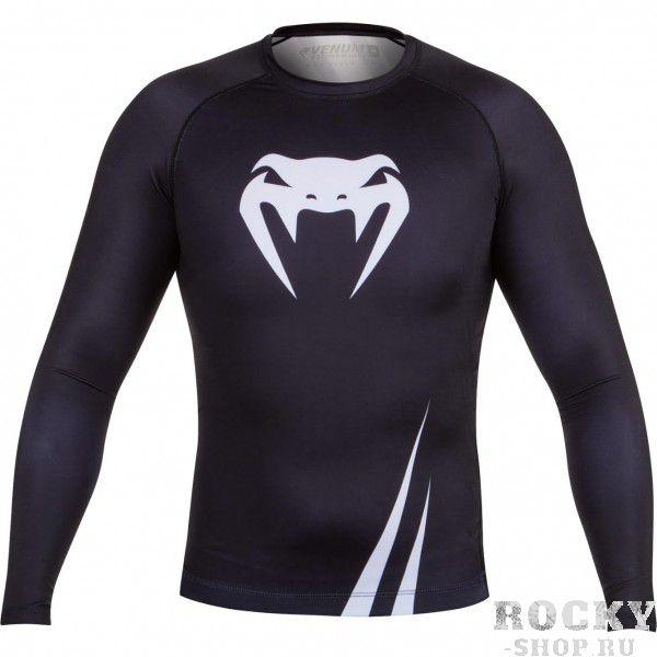 Рашгард Venum Challenger Rashguard - Long Sleeves Black/White Venum