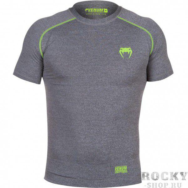 Купить Компрессионная футболка Venum Contender 2.0 Compression T-Shirt - Short Sleeves Heather Grey (арт. 4897)