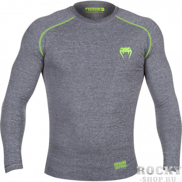 Купить Компрессионная футболка Venum Contender 2.0 Compression T-Shirt - Long Sleeves Heather Grey (арт. 4901)
