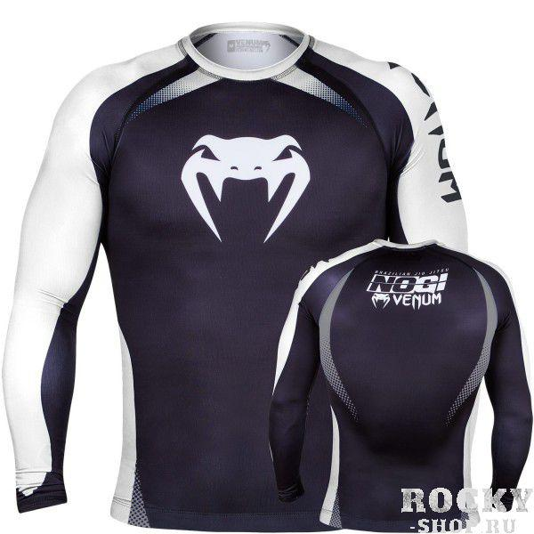 Рашгард Venum No Gi Rash Guard IBJJF Approved - Long Sleeves - Black/White