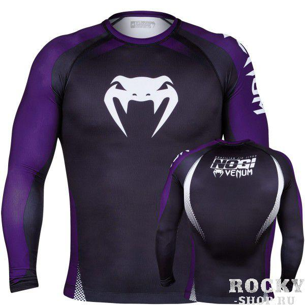 Рашгард Venum No Gi Rash Guard IBJJF Approved - Long Sleeves - Black/Purple