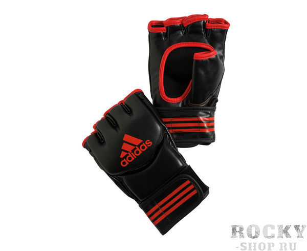 Перчатки для смешанных единоборств Traditional Grappling черно-красные, L AdidasПерчатки MMA<br>Классические перчатки для смешанных единоборств.      Застежка на липучке.       Защита большого пальца       Усиленная защита кисти       Материал: PU.<br>