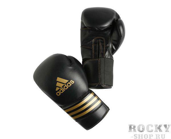 Купить Перчатки боксерские Super Pro черно-золотые Adidas 18 унций (арт. 4910)