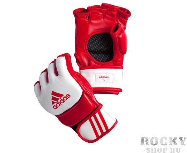Купить Перчатки для смешанных единоборств Competition Training красно-белые Adidas s (арт. 4912)