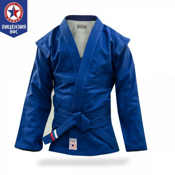 Куртка для САМБО Крепыш Я взрослая синяя (Атака) Крепыш ЯЭкипировка для Самбо<br>Куртка для САМБО Крепыш Я взрослая синяя (Атака) предназначена для занятий спортивным и боевым САМБО и соответствует всем требованиям кроя и качества, предъявляемым к курткам для САМБО. Особенности куртки для САМБО Крепыш Я взрослой:сшита по современным лекалам;прочная ткань имеет рифленую структуру;усиленные швы, в том числе в подмышечной зоне;пояс в комплекте (длина соответствует размеру);экипировка компании Крепыш Я сертифицирована Всероссийской Федерацией САМБО для занятий и соревнований. Характеристики куртки для САМБО Крепыш Я взрослой:материал - прочный 100% хлопок;плотность материала - 580 г/м2;подкладка - хлопковая белая;цвет куртки - синий;транспортная упаковка заказа - пакет. Рекомендации по уходу за курткой для САМБО Крепыш Я взрослой:Для сохранения размерных характеристик куртки для САМБО рекомендуется:1. Ручная стирка. 2. Стирка в теплой воде (до 30С). 3. Использование ополаскивателя для смягчения воды. При условии нарушения рекомендованных инструкций по уходу за изделиями (в горячей воде или в стиральной машине) размер куртки для САМБО может уменьшиться на 1-2 пункта. Гарантия:Срок гарантии: 30 календарных дней с момента получения товара покупателем. Условия гарантии: использование товара в соответствии с правилами ухода и эксплуатации экипировки.<br><br>Размер: 56