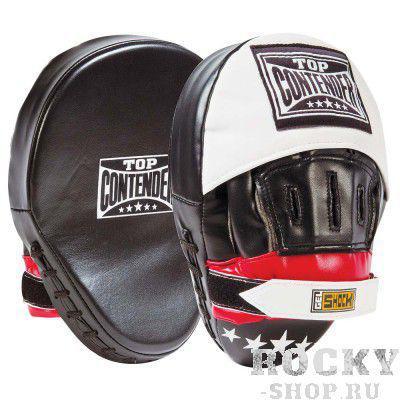 Купить Боксерские лапы изогнутые Contender черный/красный (арт. 493)