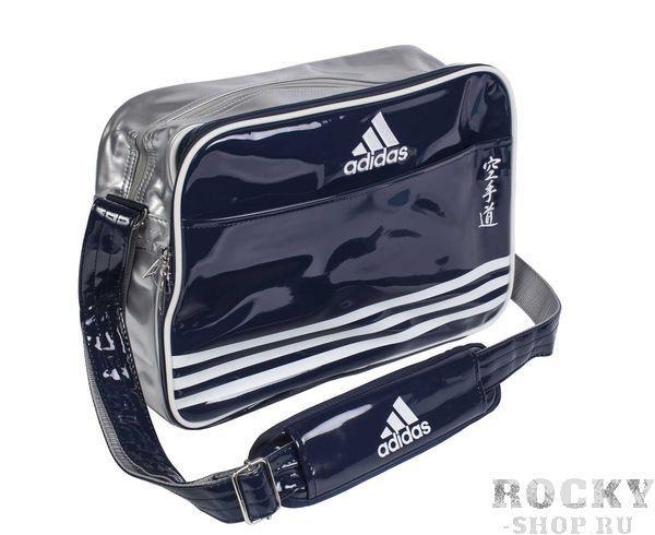 Купить Сумка спортивная Sports Carry Bag Karate S Adidas сине-серебристо-белая (арт. 4999)
