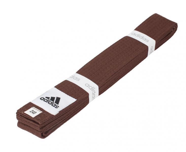 Пояс для единоборств Club, коричневый AdidasЭкипировка для Каратэ<br>Пояс для единоборств adidas Club синий. Club Сolor. Универсальный пояс для кимоно. Ширина 40мм. Материал:60% хлопок, 40% полиэстер.<br><br>Размер: 240 см