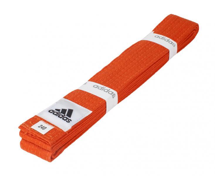 Пояс для единоборств Club, оранжевый AdidasЭкипировка для Каратэ<br>Пояс для единоборств adidas Club оранжевый. Club Сolor. Универсальный пояс для кимоно. Ширина 40мм. Материал:60% хлопок, 40% полиэстер.<br><br>Размер: 280 см