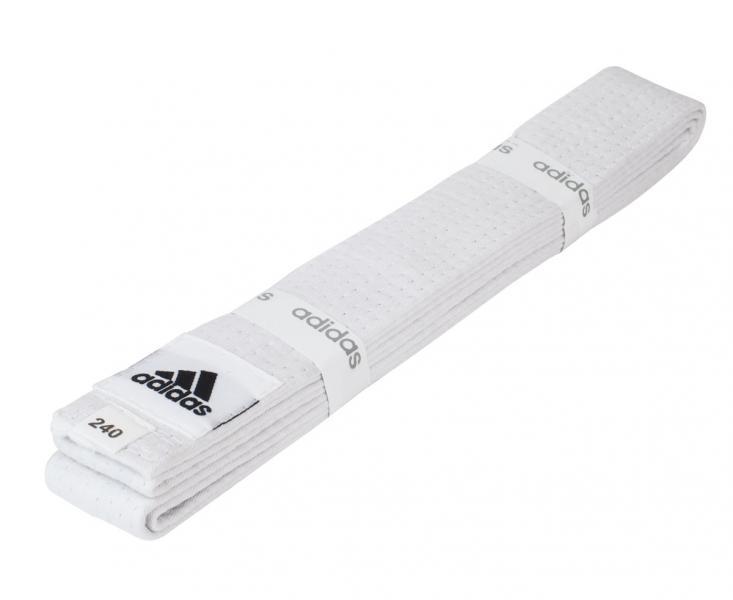 Пояс для единоборств Club, белый AdidasЭкипировка для Каратэ<br>Пояс для единоборств adidas Club белый. Club Сolor. Универсальный пояс для кимоно. Ширина 40мм. Материал:60% хлопок, 40% полиэстер.<br><br>Размер: 240 см