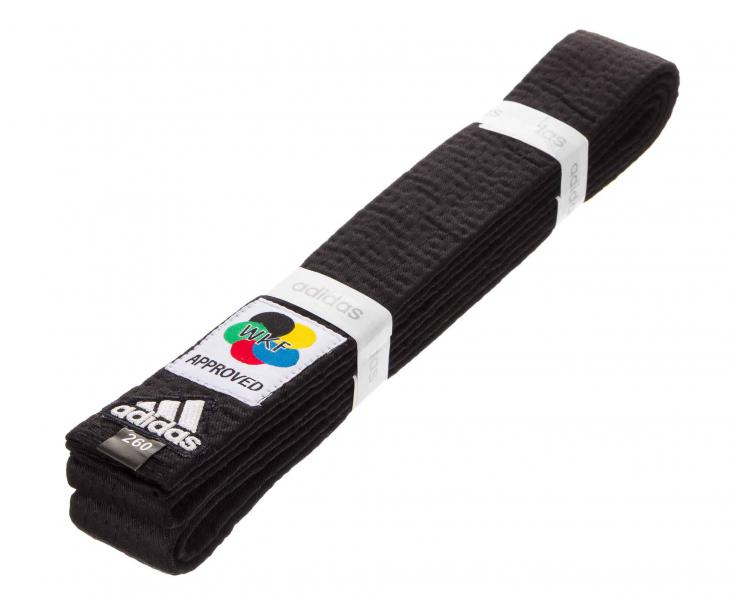 Пояс для карате Elite WKF, черный AdidasЭкипировка для Каратэ<br>Профессиональный пояс для карате Elite WKF Approved<br><br>Цвет: 300 см