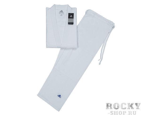 Кимоно для айкидо Aikido, белое AdidasЭкипировка для Айкидо<br>Кимоно для айкидо. Материал: 60% хлопок, 40% полиэстер.<br>