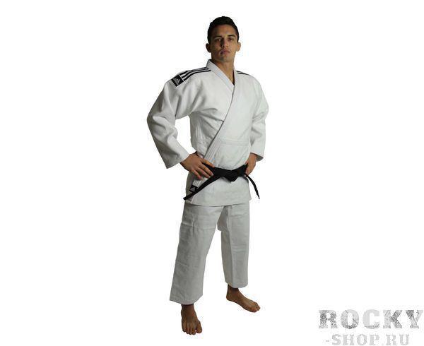 Кимоно для дзюдо Champion 2 IJF, белое AdidasЭкипировка для Дзюдо<br>Champion 2 IJF белое. Кимоно для дзюдо в соответствии с новыми, 2015 года правилами IJF (плотность, рукав, воротник, брюки), сертифицировано IJF. Плотность ткани- 730 грамм на м2(соответствует новым стандартам IJF 2015) Состав ткани: 75% хлопок, 25% полиэстер Отворот воротники в 4 строчки Pre-shrunk technology (Противоусадочная технология)<br><br>Размер: 150 см