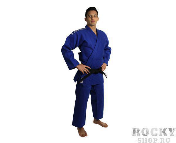 Кимоно для дзюдо Champion 2 IJF, синее AdidasЭкипировка для Дзюдо<br>Champion 2 IJF синее. Кимоно для дзюдо в соответствии с новыми, 2015 года правилами IJF (плотность, рукав, воротник, брюки), сертифицировано IJF. Плотность ткани- 730 грамм на м2(соответствует новым стандартам IJF 2015) Состав ткани: 75% хлопок, 25% полиэстер Отворот воротники в 4 строчки Pre-shrunk technology (Противоусадочная технология)<br><br>Размер: 160 см