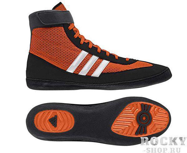 Борцовки Combat Speed.4, оранжево-черные AdidasЭкипировка для Борьбы<br>Представляем борцовки adidas Combat Speed.4 в сине-черном и красно-черном цветах. Идеальная обувь для тренировок и соревнований. Изготовлены из комбинации искусственной замши и сетки с полиэфирными нитями. Застежка на липучке, которая обеспечивает надёжную фиксацию на ноге, оберегая от травмы ахиллова сухожилия.&amp;nbsp;&amp;nbsp;- Верх из сетчатого материала climacool® 360° обеспечивает круговую вентиляцию для комфорта стопы- Литая стелька из ЭВА принимает форму стопы, обеспечивая анатомически комфортную посадку- Подошва с технологией ADIWEAR™ придает реальную износостойкость и упругость.<br>