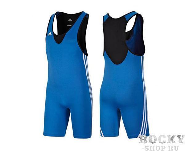Трико борцовское Base Wrestler, синее AdidasЭкипировка для Борьбы<br>Трико adidas красного цвета. Mягкий, легкий материал ClimaLite®. Данная модель подходит как для соревнований так и для тренировок. Классический 3-полосы по бокам. В соответствии с правилами ФИЛА.<br><br>Размер: XS