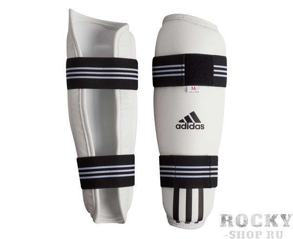 Купить Защита голени для тхэквондо WTF Shin Pad Protector Adidas белая (арт. 5082)
