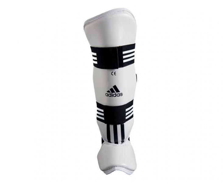 Купить Защита голени и стопы для тхэквондо WTF Shin Instap Pad Protector Adidas белая (арт. 5084)