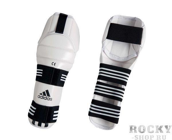 Купить Защита голени и колена для тхэквондо WTF Shin & Knee Pad Protector Adidas белая (арт. 5085)
