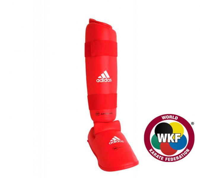 Защита голени и стопы WKF Shin &amp; Removable Foot, красная AdidasЗащита тела<br>Защита голени и стопы WKF Shin &amp; Removable Foot красная adidas   Одобрено WKF Одобрено CE Инжекционный литой вкладыш Материал: PU3G Защита большого пальца<br><br>Размер: S