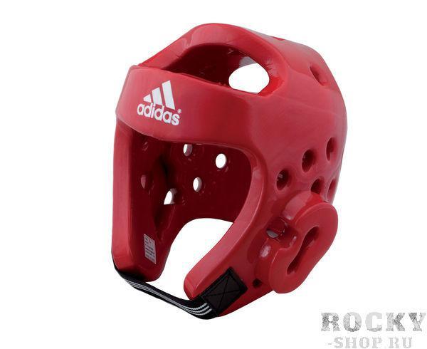Купить Шлем для тхэквондо Head Guard Dip Foam WTF Adidas красный (арт. 5089)