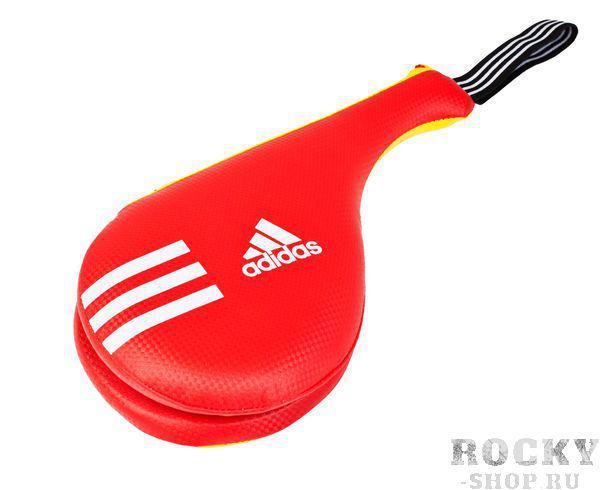 Купить Ракетка для тхэквондо двойная Kids Double Target Mitt Adidas желто-красная (арт. 5095)