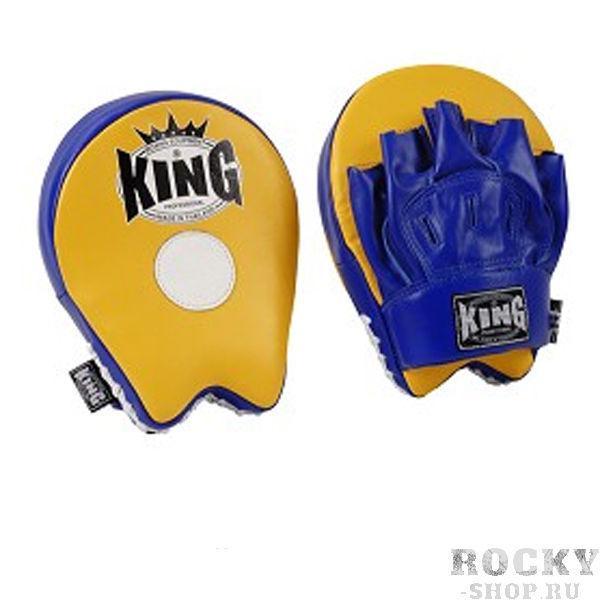 Лапы малые, Синий/желтый, Размер O/S KingЛапы и макивары<br>Плотный наполнитель<br> Дышащая перчатка<br> Материал - 100% кожа<br> Плотно сидит на руке<br> 2 штуки в упаковке<br>
