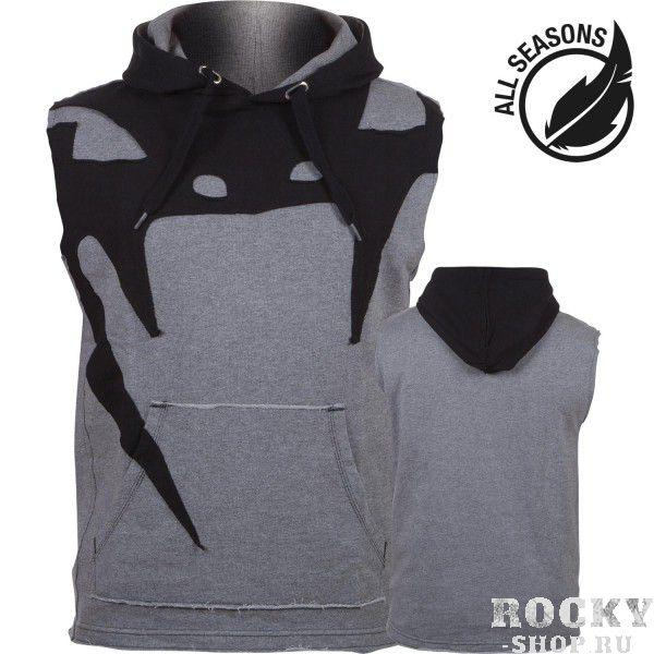 Толстовка без рукавов Venum Attack Sleeveless Hoody - Lite Series - All Seasons Heather Grey Venum