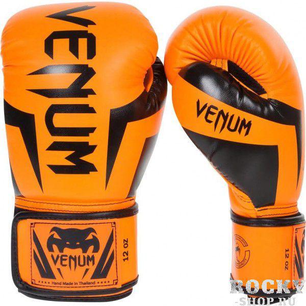 Перчатки боксерские Venum Elite Neo Orange, 14 унций VenumБоксерские перчатки<br>Перчатки боксерские Venum Elite Neo Orange изготовлены вручную из синтетической кожи Skintex – качество на высоте. Трехуровневая пена гасит ударную волну всякий раз, когда Вы делаете удар. Уникальный дизайн и цвет подходит для бойцов любого уровня. Усиленные швы и сетчатые панели в сочетании с эргономичной формой обеспечивают удобную посадку руки, создается ощущение, что перчатка и рука – единое целое. Оппонент будет чувствовать на себе элитную силу Ваших ударов. Особенности:Премиум кожа SkintexСетчатая панель под внутренней частью ладони для лучшей терморегуляцииТрехслойная внутренняя пенаУсиленная ладоньБольшой палец прилегает на 100%, что сокращает риск травматизмаУкрепленные швыШирокая эластичная липучка-застежкаДлинные манжеты для лучшей защиты запястьяРучная работа, Тайланд<br>