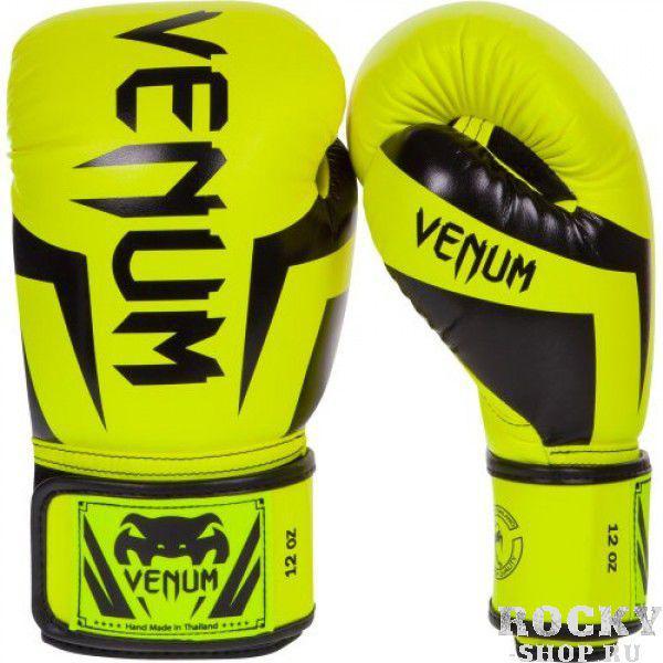 Перчатки боксерские Venum Elite Neo Yellow, 10 унций VenumБоксерские перчатки<br>Перчатки боксерские Venum Elite Neo Yellow изготовлены вручную из синтетической кожи Skintex – качество на высоте. Трехуровневая пена гасит ударную волну всякий раз, когда Вы делаете удар. Уникальный дизайн и цвет подходит для бойцов любого уровня. Усиленные швы и сетчатые панели в сочетании с эргономичной формой обеспечивают удобную посадку руки, создается ощущение, что перчатка и рука – единое целое. Оппонент будет чувствовать на себе элитную силу Ваших ударов. Особенности:Премиум кожа SkintexСетчатая панель под внутренней частью ладони для лучшей терморегуляцииТрехслойная внутренняя пенаУсиленная ладоньБольшой палец прилегает на 100%, что сокращает риск травматизмаУкрепленные швыШирокая эластичная липучка-застежкаДлинные манжеты для лучшей защиты запястьяРучная работа, Тайланд<br>