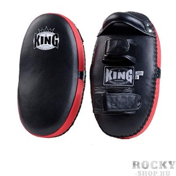 Макивара-1шт, Размер XL, Черный/красный KingЛапы и макивары<br>Фиксация - липучка<br> Изогнутая вид смягчает удар<br> Кожа топовой  класса<br> Многослойный упругий материал<br>
