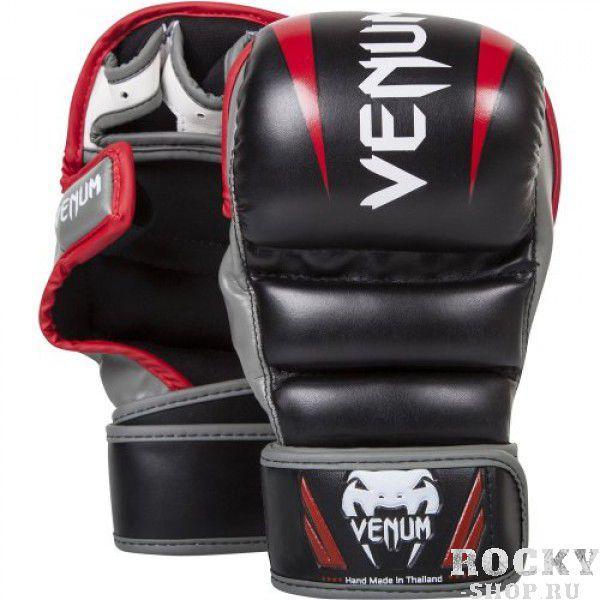 Купить Перчатки ММА Venum Elite Sparring Black/Red/Grey (арт. 5150)