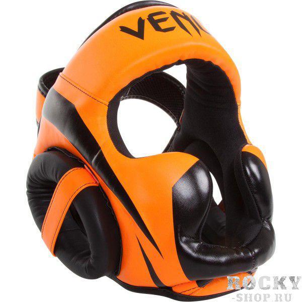 Шлем боксерский Venum Elite Neo Orange VenumШлемы ММА<br>Шлем боксерский Venum Elite Neo Orange как раз для тех, кто ищет правильную защиту. Для обеспечения защиты высочайшего качества эти шлема построены из премиумной синтетической кожи . Комфорт обеспечен во время поединков и отработок обеспечен. Шлема уже известны своей долговечностью, имеют внутреннюю трехслойную пену для лучшего поглощения удара. Конструкция шлема такова, что Ваш обзор составляет не менее 180 градусов. Особенности:Кожа Skintex для большей прочностиУльтра-легкий, не ограничивает скоростьОбзор не менее 180 градусовТрехслойная внутренняя пенаЗащита ушейСетчатые вставки для оптимального вывода влагиРегулируется в двух плоскостяхРучная работа, Тайланд<br><br>Размер: Без размера (регулируется)