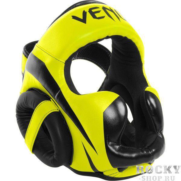 Шлем боксерский Venum Elite Neo Yellow VenumШлемы ММА<br>Шлем боксерский Venum Elite Neo Yellow как раз для тех, кто ищет правильную защиту. Для обеспечения защиты высочайшего качества эти шлема построены из премиумной синтетической кожи . Комфорт обеспечен во время поединков и отработок обеспечен. Шлема уже известны своей долговечностью, имеют внутреннюю трехслойную пену для лучшего поглощения удара. Конструкция шлема такова, что Ваш обзор составляет не менее 180 градусов. Особенности:Кожа Skintex для большей прочностиУльтра-легкий, не ограничивает скоростьОбзор не менее 180 градусовТрехслойная внутренняя пенаЗащита ушейСетчатые вставки для оптимального вывода влагиРегулируется в двух плоскостяхРучная работа, Тайланд<br><br>Размер: Без размера (регулируется)