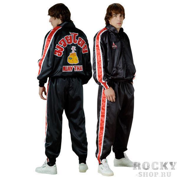 Спортивный костюм Twins Special Twins SpecialСпортивные костюмы<br>Фирменный спортивный костюм от Twins Special. <br> Подходит как для занятий спортом, так и для повседневной носки<br> Не сковывает движения<br> Фирменный классический стиль<br> Легкий в уходе<br> Материал - сатин<br><br>Размер INT: Размер XXL