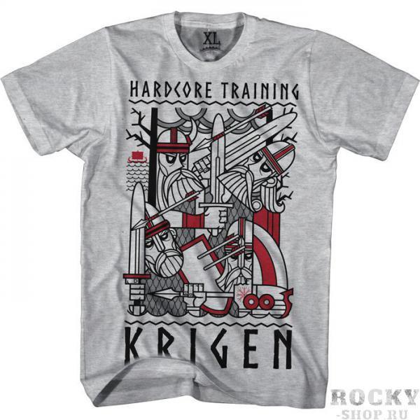 Футболка Hardcore Training Krigen Hardcore TrainingФутболки<br>Футболка Hardcore Training Krigen. Холодная сталь, холодный ветер с фьордов, холодные и злые глаза врагов. Суровый и простой, словно выбитый на камне, дизайн. Футболка KRIGEN от HCT для всех современных викингов. Уход: машинная стирка в холодной воде, деликатный отжим, не отбеливать. Состав: 100% хлопок высокого качества.<br><br>Размер INT: S