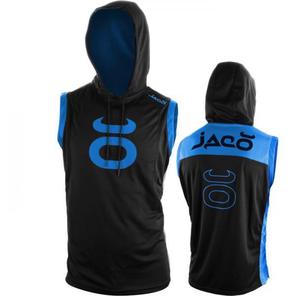 Кофта-безрукавка Jaco Jaco ClothingТолстовки / Олимпийки<br>Кофта-безрукавка Jaco. Кофта, которая отлично подойдет и для тренировок, и в качестве прогулочного варианта. Безрукавка jaco выполнена из дыщащего материала. На олимпийке присутствуют:состав: 100% полиэстер. Уход: Машинная стирка в холодной воде, деликатный отжим, не отбеливать.<br><br>Размер INT: XXL