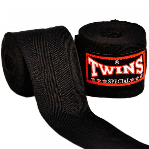 Боксерские бинты Twins, 5 метров, 5 метров Twins SpecialБоксерские бинты<br>Боксерские бинты от Twins Special. Длина 5 метров. <br> Изготовлены из 100 % хлопка<br> Длина 5 метров<br><br>Цвет: Чёрный